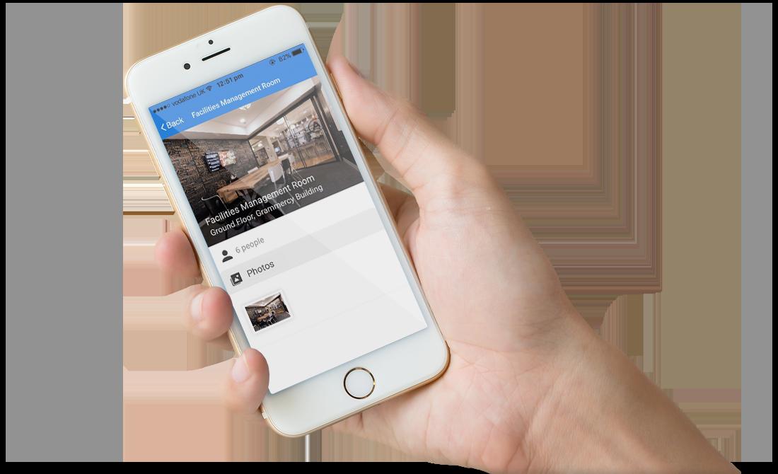Desk booking software on a mobile first cloud based platform for Matrix mobili
