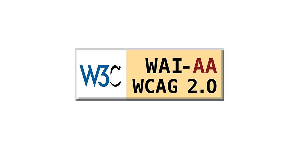 logo W3C WAI AA WCAG 2.0