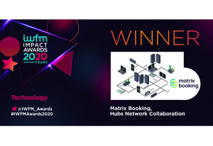 IWFM Award winners 2020 Matrix Booking - graphic